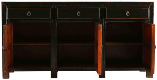 Block & Chisel black wooden sideboard