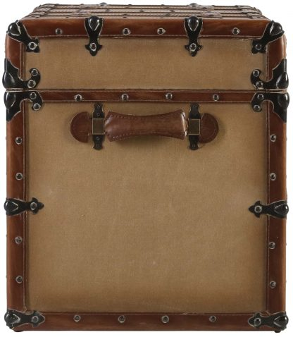 Block & Chisel canvas kist with PU leather straps