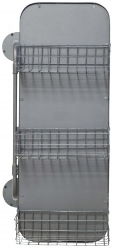 Block & Chisel rectangular mirror with storage