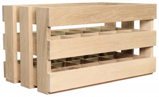 Block & Chisel 15 bottle wooden wine crate