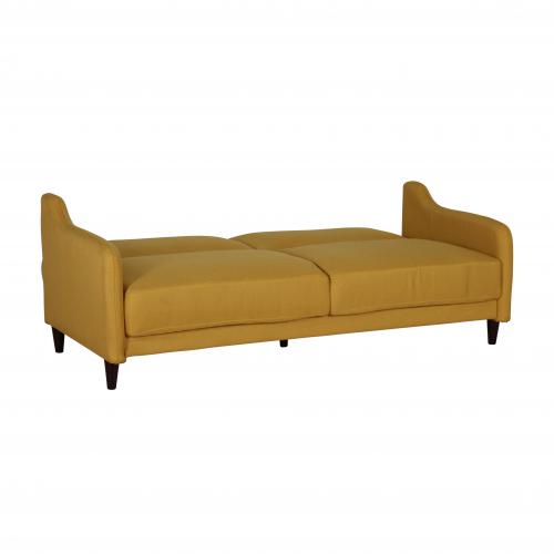 block and chisel sleeper sofa in yellow