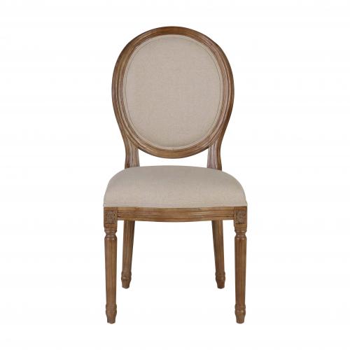 Block & Chisel linen upholstered spa back dining chair