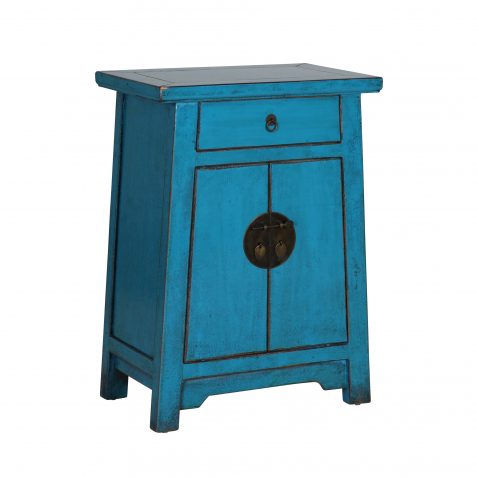 Block & Chisel turquoise wooden cabinet