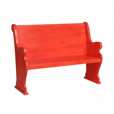 RED PAINTED BENCH