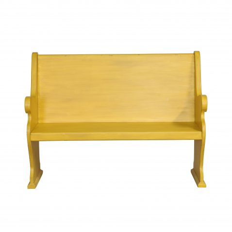 YELLOW PAINTED BENCH