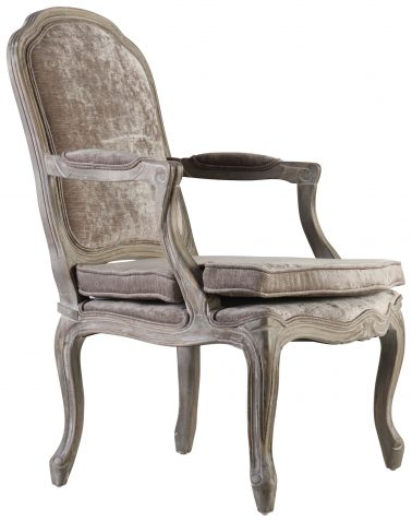 Block & Chisel grey upholstered Bodine styled occasional chair