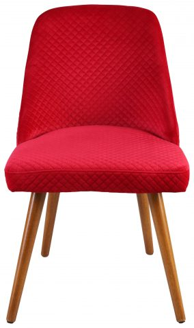 Block & Chisel red upholstered dining chair