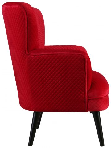 Block & Chisel red upholstered occasional chair