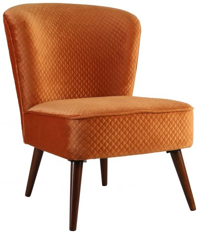 Block & Chisel orange upholstered occasional chair