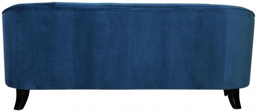 Block & Chisel blue upholstered velvet sofa