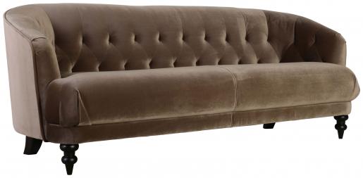 Block & Chisel old gold upholstered velvet sofa