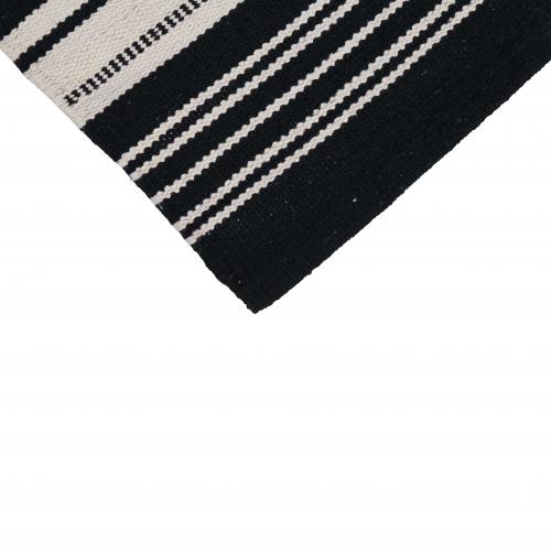 DESTINY RUG BLACK AND WHITE STRIPE