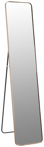 Block & Chisel rectangular mirror with antique gold metal frame
