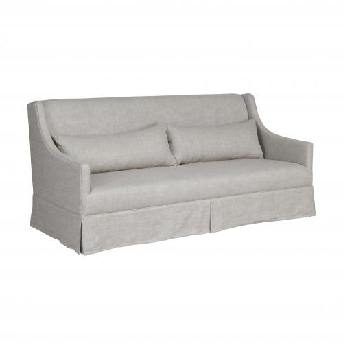 slipcover 2 seater sofa in linen