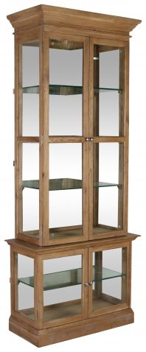 Block & Chisel oak wood and MDF display cabinet