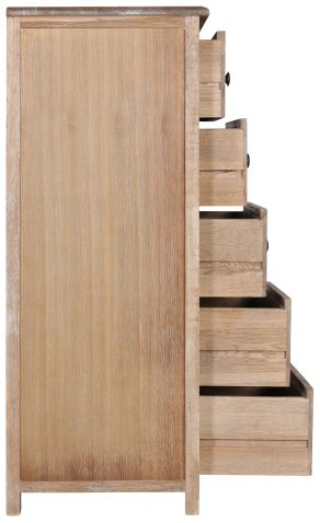 Block & Chisel oak & multilayer board tallboy