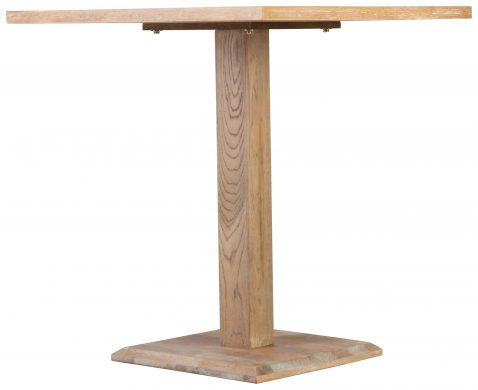 Block & Chisel square oak wood café table