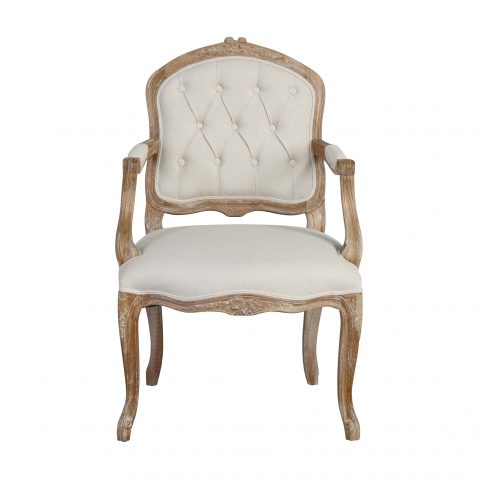 french style carver chair with buttoned back