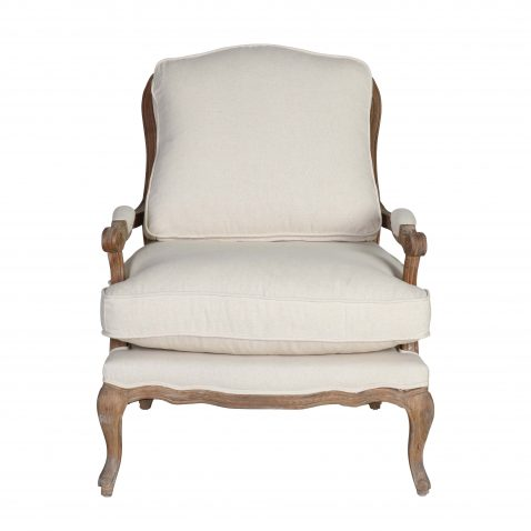 Block and chisel french style lounge chair