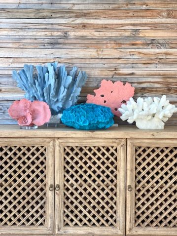 Block & Chisel blue polyresin coral