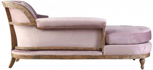 Block & Chisel mink velvet upholstered day bed with rubber wood legs