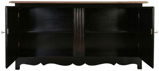 Block & Chisel antique weathered oak sideboard with matt black base
