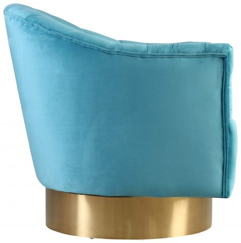 Block & Chisel aqua velvet upholstered occasional chair