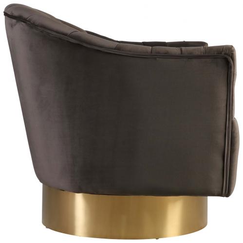 Block & Chisel grey velvet upholstered occasional chair