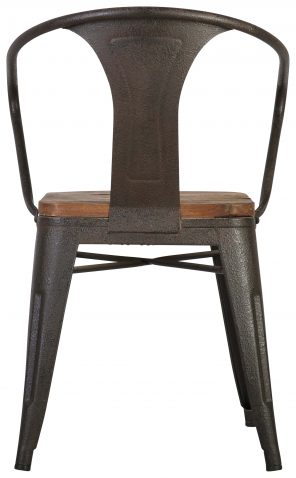 Block & Chisel elm wood horse shoe chair with metal frame