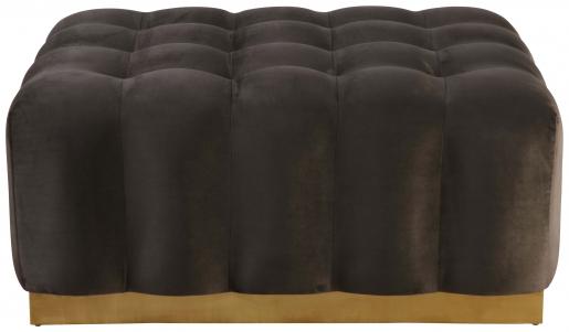 Block & Chisel grey velvet upholstered ottoman
