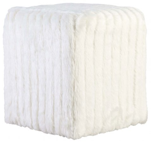 Block & Chisel white square upholstered ottoman