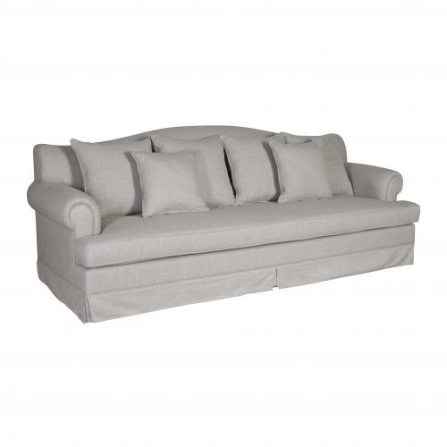 Block & Chisel yale linen upholstered sofa