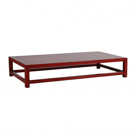 modern red chinese coffee table