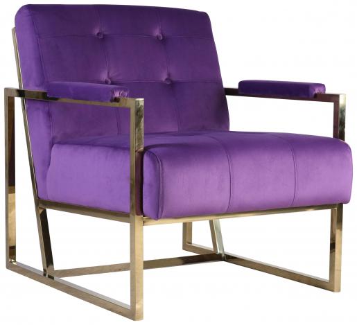 Block & Chisel purple velvet upholstered occasional chair