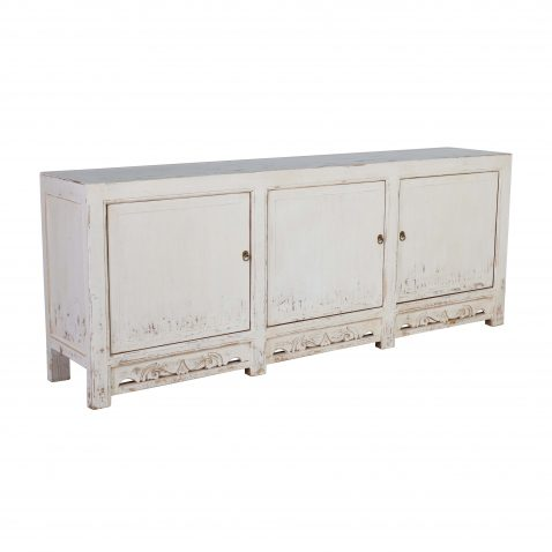 Block & Chisel oriental off white 3 door sideboard