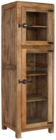 Block & Chisel mango wood cabinet with glass doors