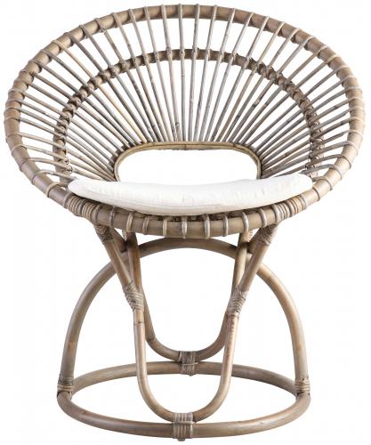 Block & Chisel koboo jawit natural rattan fan back chair
