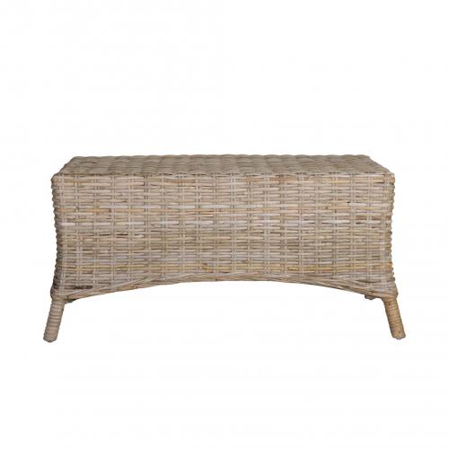Rattan coffee table or ottoman straight on
