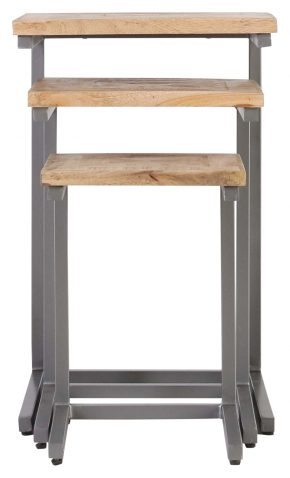 Block and chisel Burk nesting tables