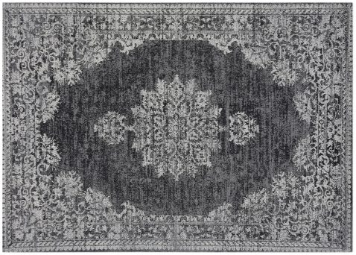 Block & Chisel grey and black printed rug