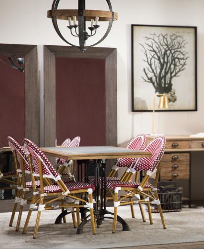 Block & Chisel square café table with zinc top