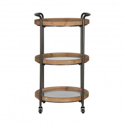 Block & Chisel Industrial Style drink trolley side table on castors
