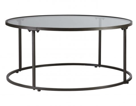 metal table with glass top from Block & Chisel