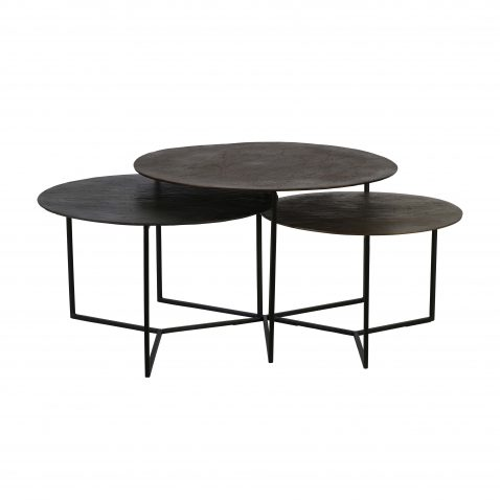 metal and bronze nesting table set