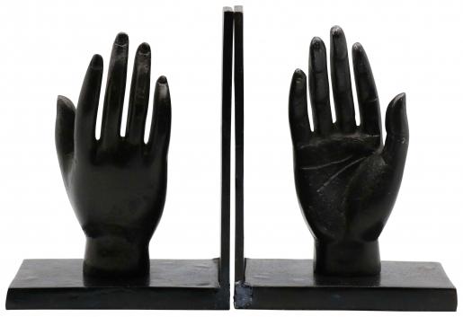 Block & Chisel aluminium hand bookends