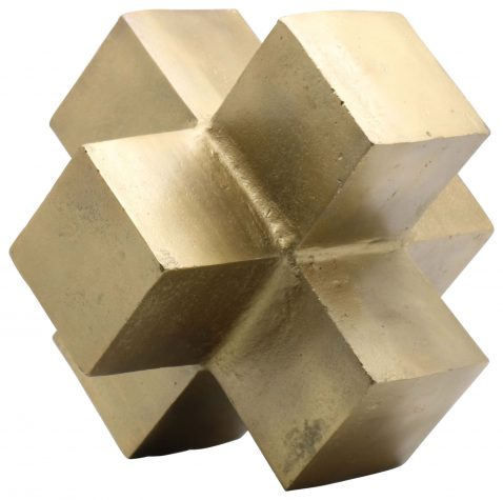 Block & Chisel abstract antique brass blocks sculpture