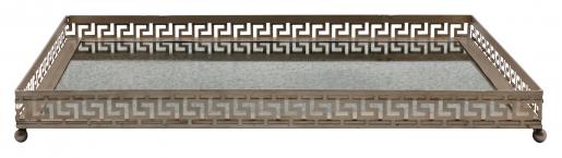 Block & Chisel rectangular iron tray with mirrored base