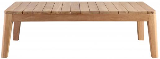 Block & Chisel rectangular outdoor teak wood coffee table