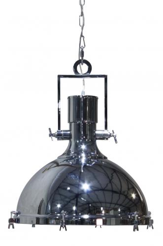 Block & Chisel chrome hanging lamp