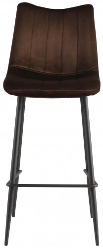 Block & Chisel brown upholstered barstool